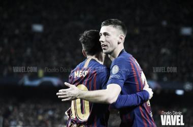 Lenglet con Leo Messi. FOTO: Noelia Déniz