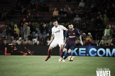 Lenglet en el partido contra el FC Barcelona | Noelia Déniz VAVEL