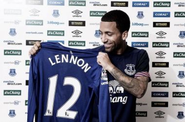 Lennon to wear the number 12 shirt for Everton this season. (Image via Everton FC Facebook.)