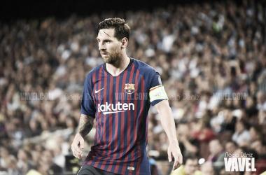 Imagen de archivo. Leo Messi en un encuentro de Champions en el Camp Nou | Foto: Noelia Déniz - VAVEL
