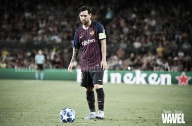 Imagen de Messi durante el partido con el PSV esta temporada | Foto: Noelia Déniz - VAVEL
