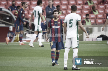 Messi, en el partido contra el Elche del Gamper.