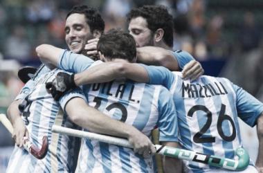 Festejo de gol que los clasificaba a semis del Mundial. Foto: Web