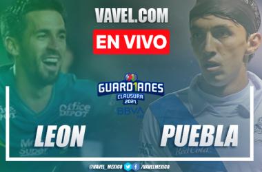 Goles y Resumen León 1-2 Puebla en la jornada 9 del Guard1anes 2021