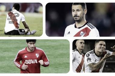 A LA ENFERMERÍA. Estos son los jugadores del Millonario con diferentes síntomas. Foto: Vavel River Plate.