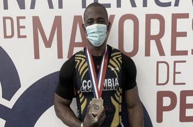 Lesman Paredes figura del Panamericano por Colombia, tres oros, tres records . Foto: FedepesasCol