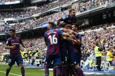El Levante U.D celebra un gol. | Foto: LaLiga