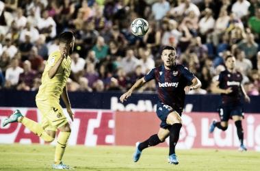 Derbi de la temporada pasada en Orriols con victoria del Levante. Foto: Levante UD