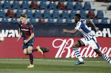 Com gol de De Frutos, Levante vence Real Sociedad em LaLiga