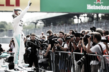 Hamilton was dominant throughout Saturday and secured pole for Sunday's race | Photo: @Talksport Twitter