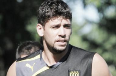 Gabriel Leyes durante un entrenamiento con Peñarol. Foto: web