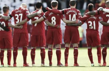 Como é de costume, tivemos homenagens em toda Inglaterra (Foto: Divulgação/Liverpool)