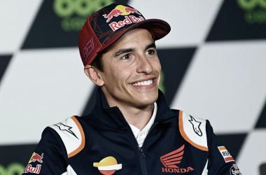 Marc Márquez en la rueda de prensa / Fuente: MotoGP