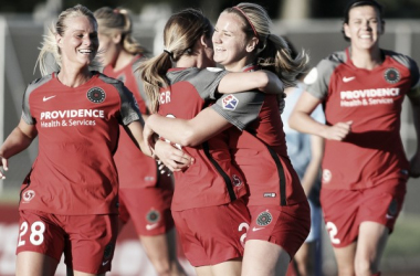 Lindsey Horan's first goals of the season helped Portland get the win | Source: nwslsoccer.com