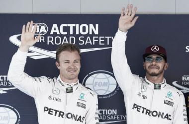0.2 segundos separaram Hamilton e Rosberg na classificação