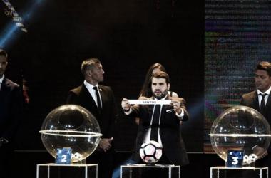 Sorteo de la Copa Libertadores. Foto: Página oficial de Estudiantes de la Plata.