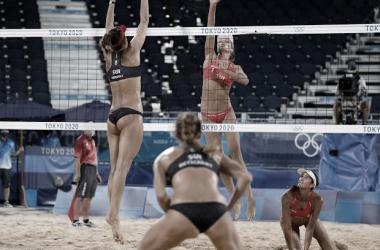 Melhores momentos Depre/Heidrich (SUI) x Klineman/Ross (EUA) AO VIVO no vôlei de praia feminino nas Olimpíadas (0-2)