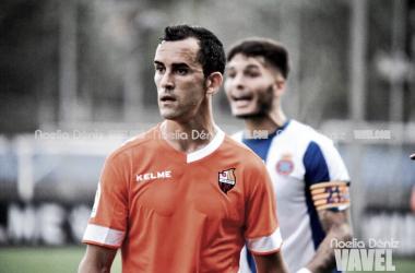 Miguel Linares con la elástica del CF Reus en pretemporada | Foto: Noelia Déniz (VAVEL)