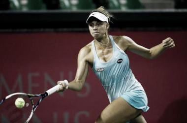 Linettte en su partido frente aHsieh | Foto: WTA
