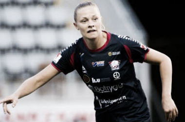 Linköpings' Fridolina Rolfö will be hoping to add to her two goals for the season to help her team to the top of the standings. (Photo: svenskfotboll.se/damallsvenskan)