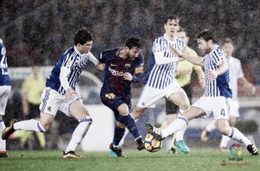 Lionel Messi regresará a Anoeta para dar la segunda victoria seguida al Barcelona. Foto: La Liga