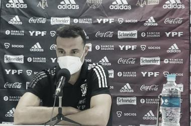 """Scaloni: """"Lo importante es que el equipo nunca bajo los brazos"""""""