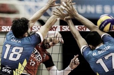 Sesi-SP perdeu mais uma e caiu para a terceira colocação da Superliga (Foto: Reprodução/Sesi)