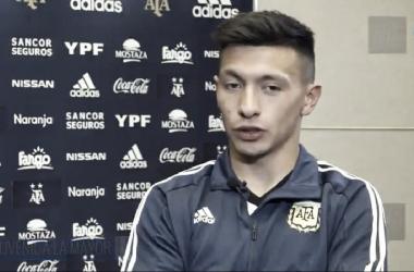 Lisandro Martínez en la Selección Argentina. Foto: Rosario Nuestro