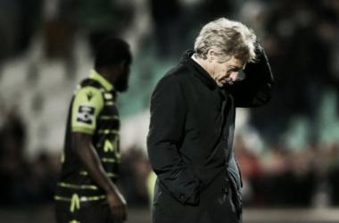 Jorge Jesús se lamenta tras la derrota | Foto: Sporting CP