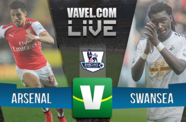 Resultado Arsenal x Swansea pela  Premier League 2015 (0x1)