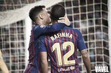 Coutinho y Rafinha ante el Inter | Foto: Noelia Déniz (Vavel)
