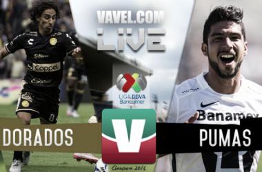 Resultado Dorados - Pumas en Liga MX 2016 (2-3)
