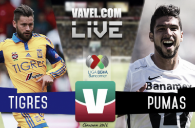 Resultado Tigres - Pumas Jornada 10 de la Liga MX Clausura 2016 (0-0)
