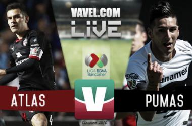 Resultado Atlas - Pumas en la Liga MX 2016 (1-1)