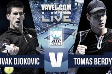 Resultado Novak Djokovic - Tomas Berdych ATP Finals 2015 (2-0): trámite solventado