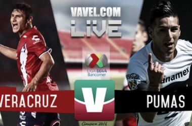 Resultado Veracruz - Pumas en Liga MX 2016 (0-0)