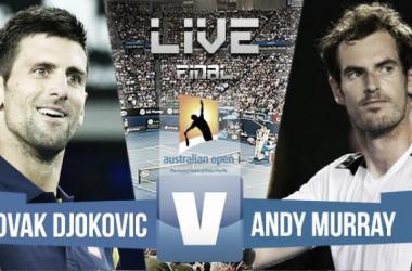 Resultado del Djokovic - Murray en final Open Australia 2016 (3-0)
