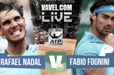 Resultado Rafael Nadal - Fabio Fognini en ATP 500 Hamburgo 2015 (2-0)