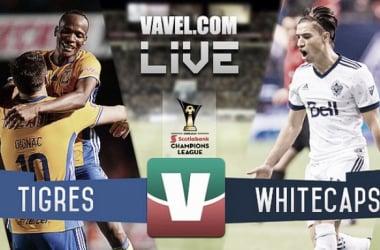 Resultado y goles del Tigres 2-0 Vancouver Whitecaps de la Concachampions Semifinal Ida
