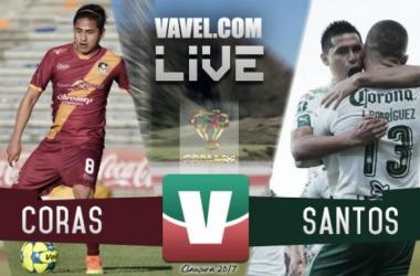Resultado y goles del Coras 0-5 Santos de la Copa MX 2017