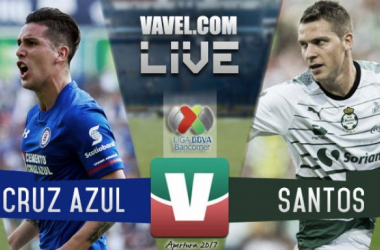 Resultado y goles del Cruz Azul 2-1 Santos Laguna de la Liga MX 2017