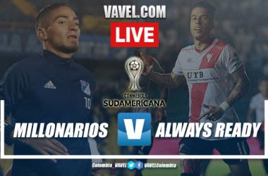 Resumen y goles del partido entre Millonarios y Always Ready por Copa Sudamericana (2-0)
