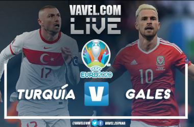 Resumen Turquía 0-2 Gales en la Eurocopa 2020