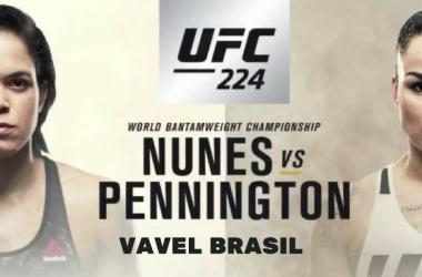 Resultado luta Amanda Nunes x Raquel Pennington no UFC 224