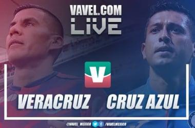 Resultado y goles del partido Veracruz 1-1 Cruz Azul