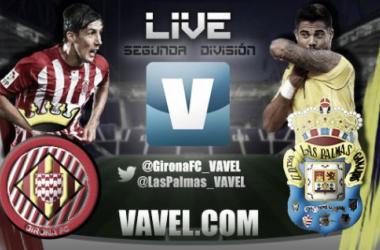 Resultado Girona - Las Palmas en la jornada 12 de la Liga Adelante 2015 (1-2)