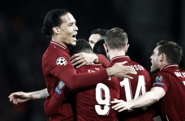 Jugadores del Liverpool celebrando un gol. FOTO: UEFA.com