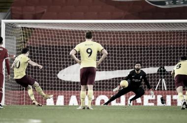 Se terminó la racha de 68 partidos sin perder para el Liverpool en condición de local. Foto: Burnley