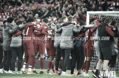Los futbolistas del Liverpool en los penaltis / Foto: Noelia Deniz