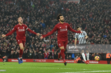 Liverpool score four against Newcastle to extend lead atop the Premier League | Photo: Getty